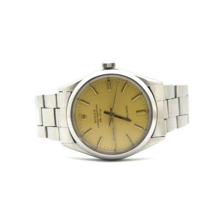 Orologio.RolexAirKing,Acciaio.Quadrante.oro001