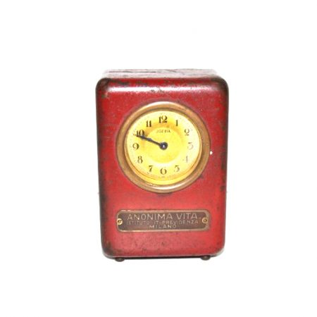 Orologio.salvadanaio.antico.rosso001