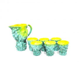 Set.caraffa.bicchieri.gialli.verdi01